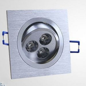 LED ugradni 3W kvadratni