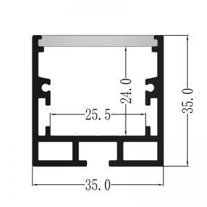 Alu profil 35x35mm