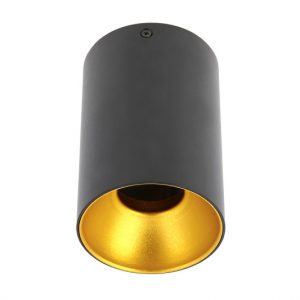 Nadgradna moderna lampa kocka krug crna