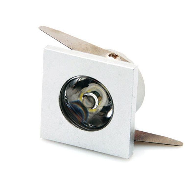 LED mini ugradbeni downlight 1W kvadratna