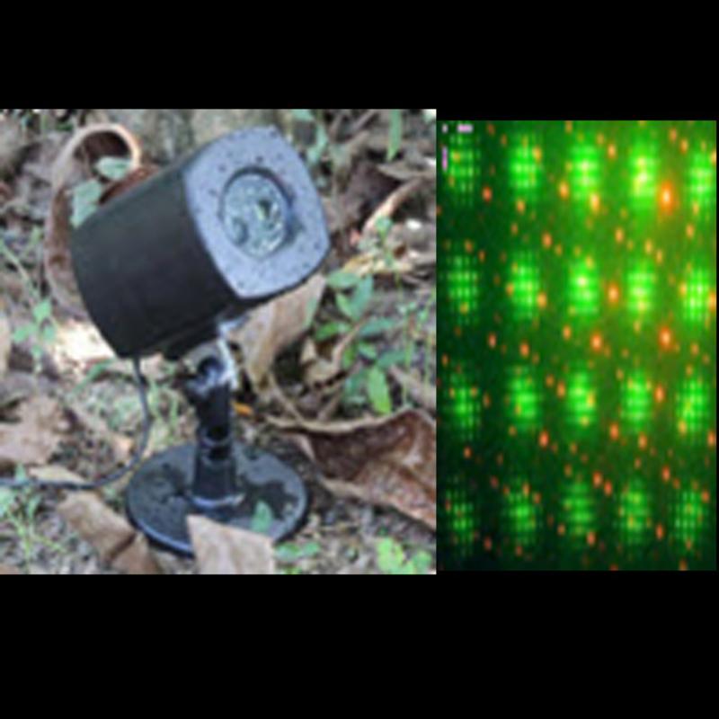 Laserski projektor sa novogodišnjim motivima